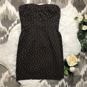 Moda International Floral Strapless Dress Size 4